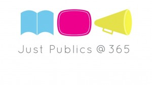 "Open Access Project ""Just Publics @365"" logo, from https://justpublics365.commons.gc.cuny.edu/"